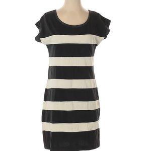 J Crew Olive Striped Dress Sz XS